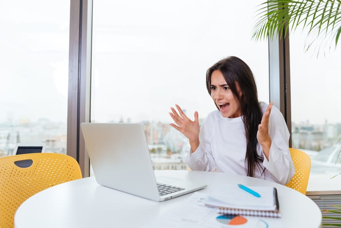 Frustrated doing her own website