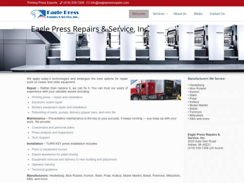 Eagle Press Repairs & Service, Inc.