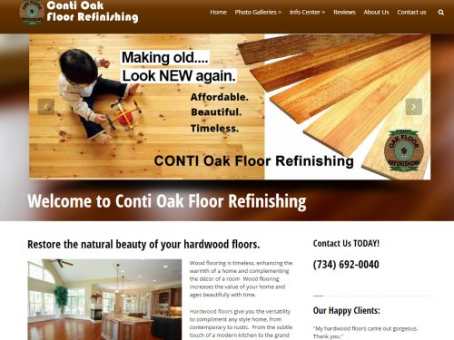 Conti Wood Oak Floor Refinishing